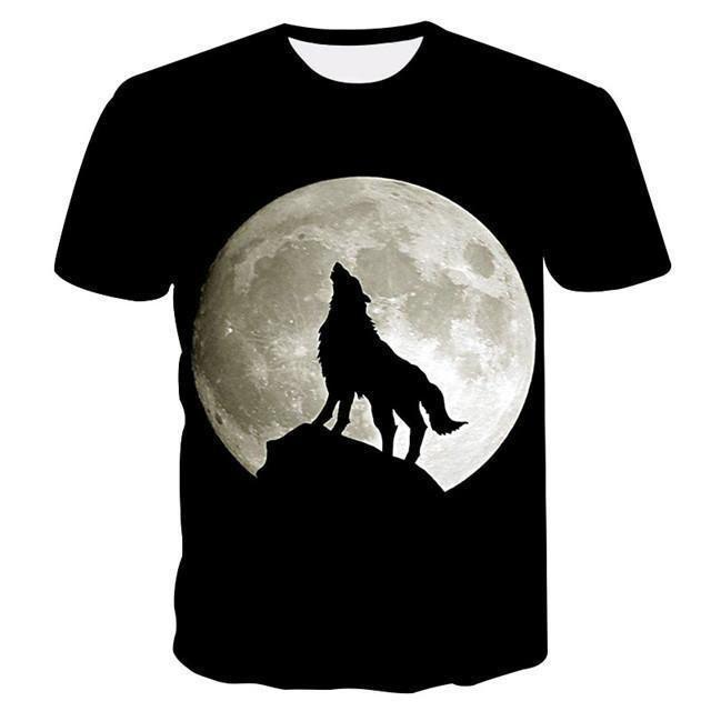 86cbab92 est Wolf 3D Print Animal Cool Funny T-Shirt Men Short Sleeve Summer Tops T  Shirt Tshirt Male Fashion