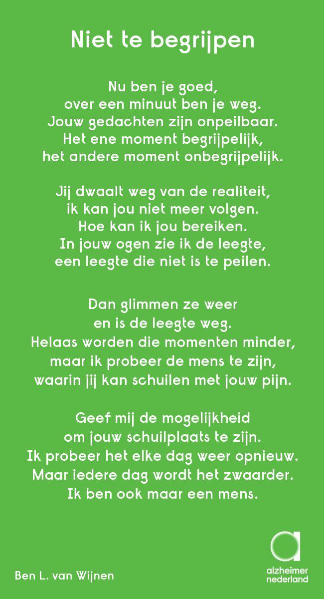 Mooi gedicht, geplaatst op het forum van Alzheimer Nederland: http://ow.ly/Pfn3G