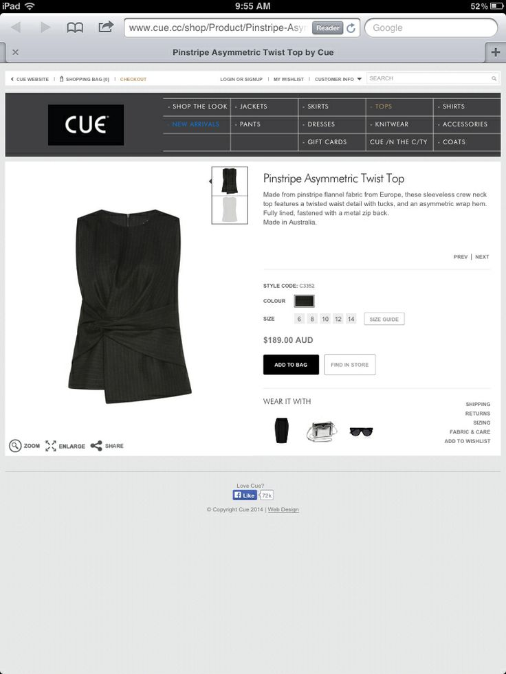 Cue website Winter 2014
