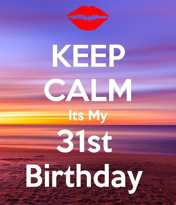 'KEEP CALM Its My 31st  Birthday ' Poster