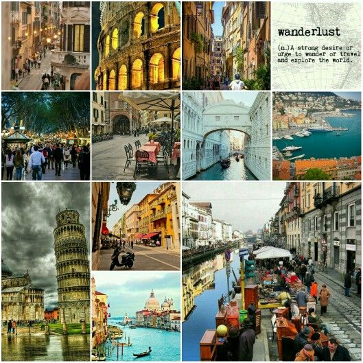 Wanderlust - A strong desire or urge to wander or travel and explore the world