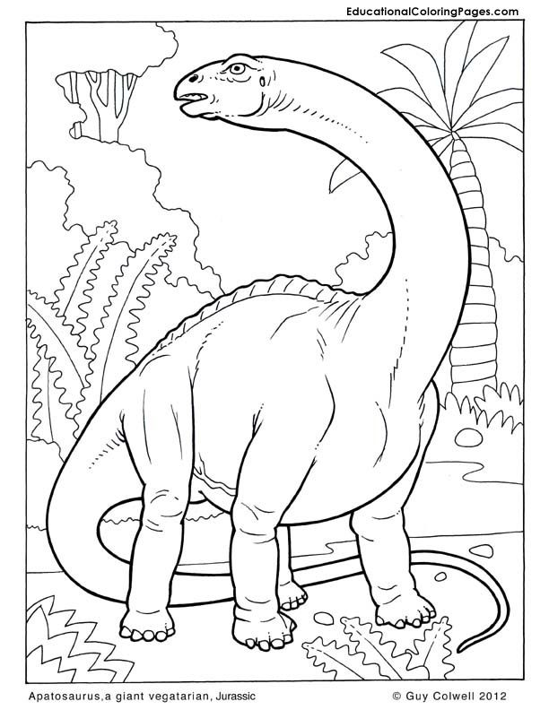 Dinosaurs book two animal coloring pages for kids