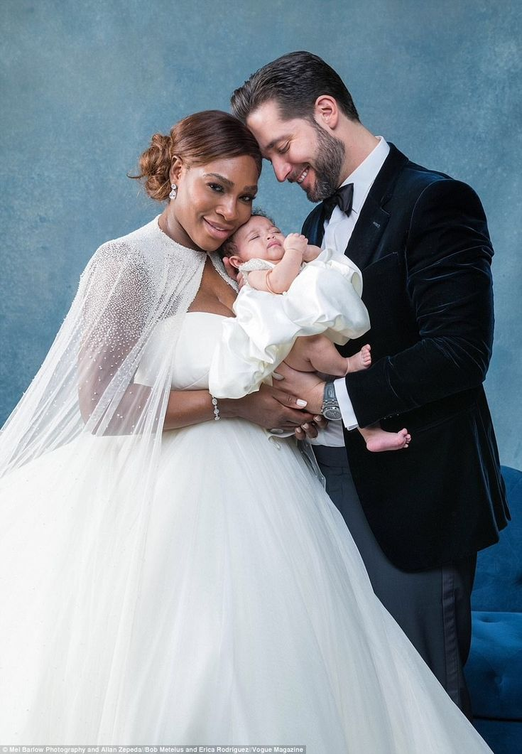 Belles of the ball: Serena and Ohanian were almost outshone at the wedding by their daught...