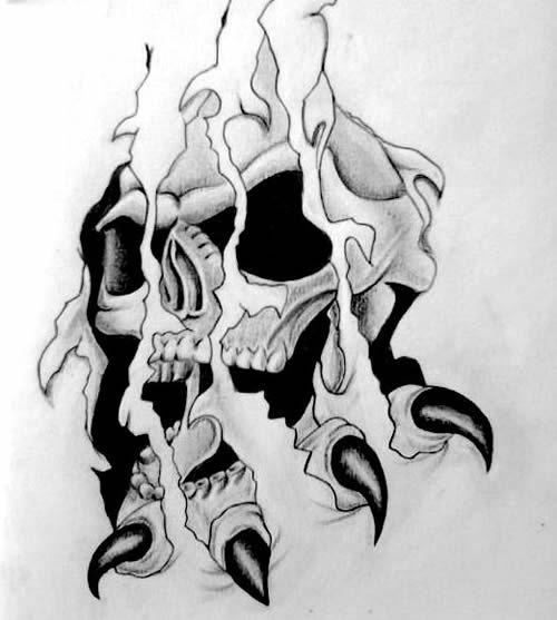 Resultado de imagen para figuras de calavera para tatuar