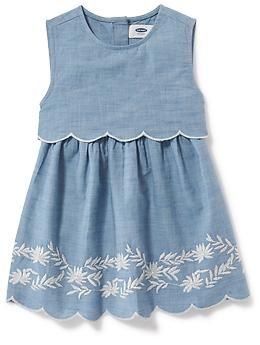 2-in-1 Embroidered Chambray Dress for Girls   Old Navy