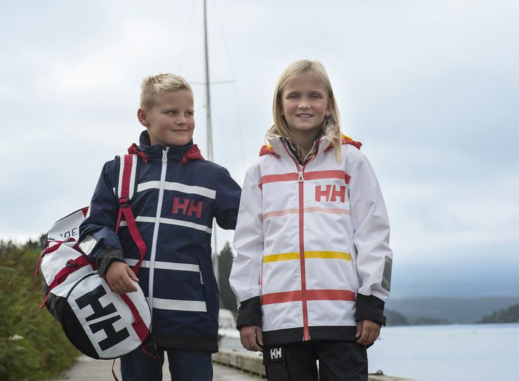 Helly Hansen kids on the dock. Ready to go with all their gear.  Photo by Berit Bergestig