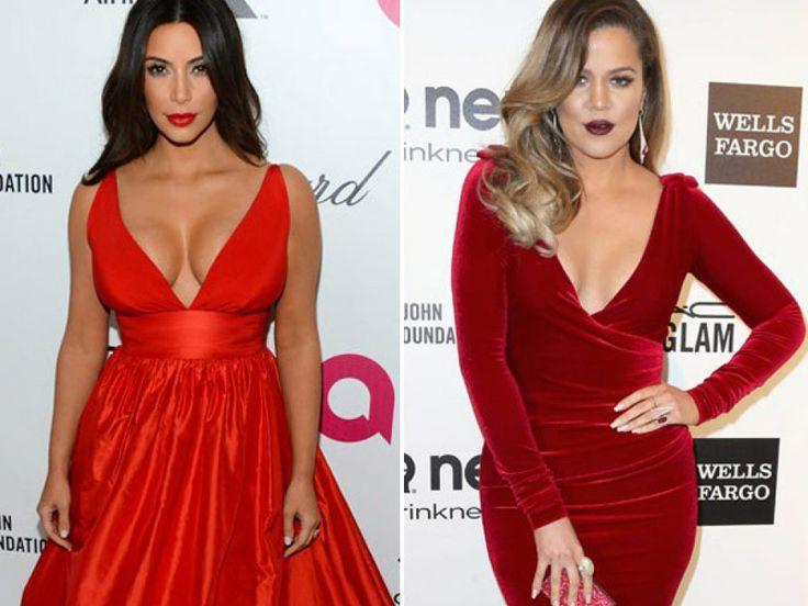 Kim Kardashian V. Khloe Kardashian: It's A Red Hot Cleavage Battle