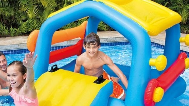 Pool Toys And Floats For Kids Inflatable Slide Swimming Noodles Fun Water Sports #Intex