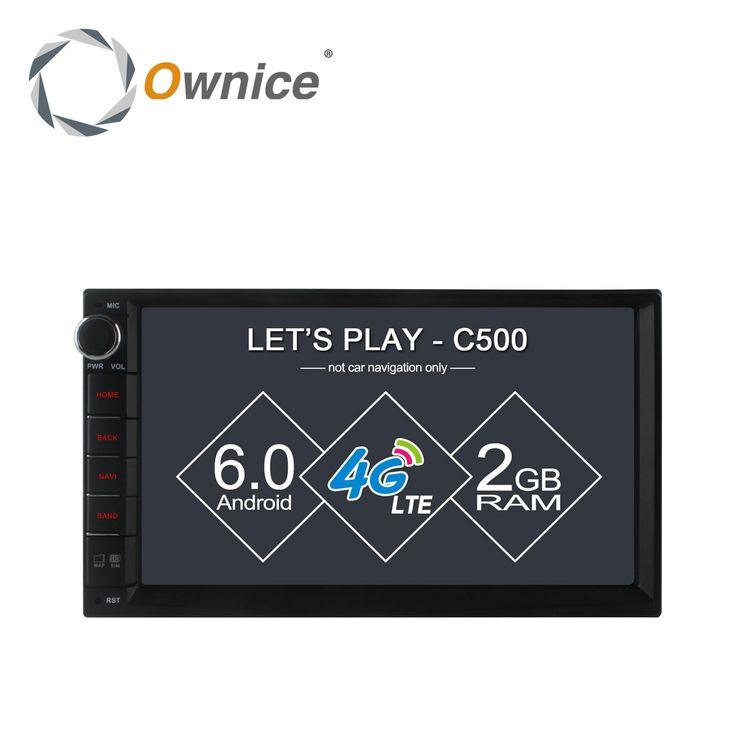 "Ownice c500 7 ""1024*600 Android 6.0 quad core Radio 2 din universal car radio Player GPS tidak ada dvd dukungan 4G LTE Jaringan DAB + TPMS"