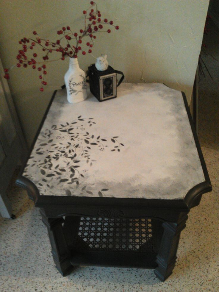 End Table, Side Table, Entryway Table, Couch Table, Small Black Table,