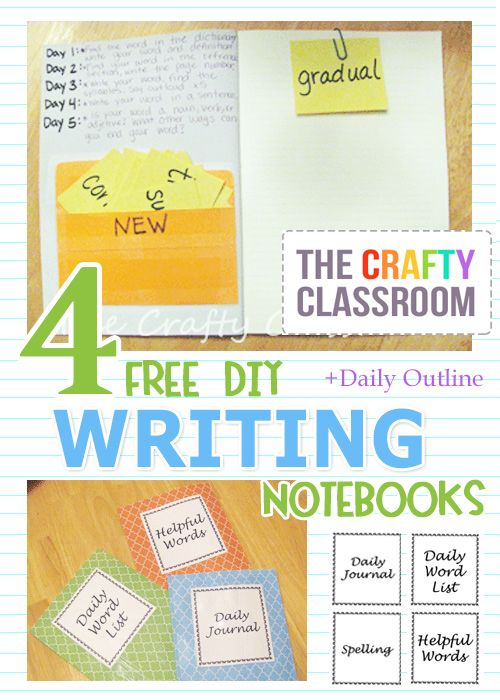 Looking for ways to encourage your child to write? Grab these 4 FREE DIY Writing Notebooks with FREE Outline.    Click here for addition