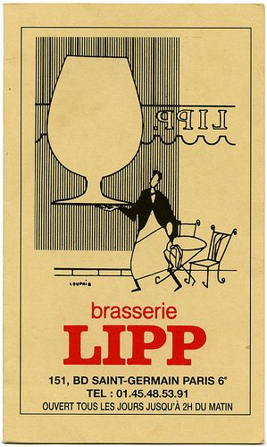 the one and only...brasserie lipp (paris)