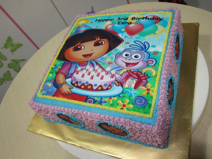 birthday cake for 1 year old girl | Here is another Dora ...