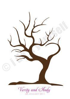 tree of love fingerprint guest book. $20.00, via Etsy.