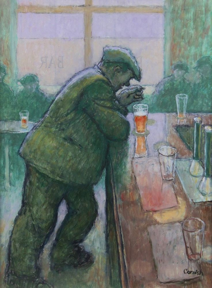 Man Leaning on Bar by Norman Cornish