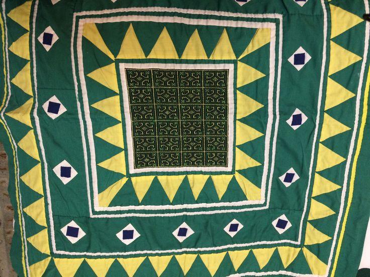Hmong Cloth Embroidered pan dau (paj ntaub) textile art. 1980s.