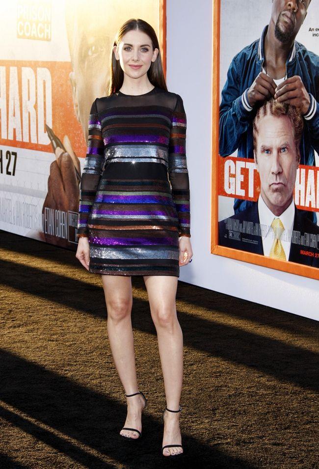Alison Brie wears an Emilio Pucci dress at the 'Get Hard' LA premiere. Photo: David Gabber/PRPhotos.com