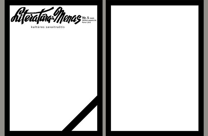 A prominent Lithuanian literature and arts journal, _Literatura ir Menas,_ which was first established in 1946, has released its latest issue as a blank document in protest of cuts to art funding. The magazine is empty of content, except for a black border, a black mourning ribbon on the front page and the magazine's logo.