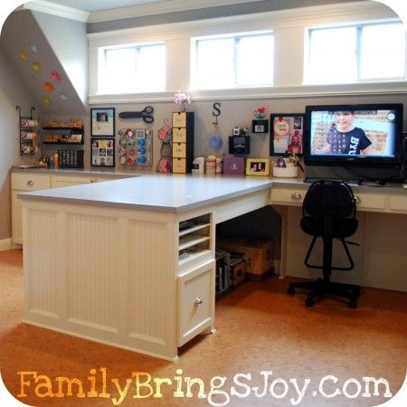 craft room ideas and layouts | Family Brings Joy - Simple Ideas to Create Family Unity