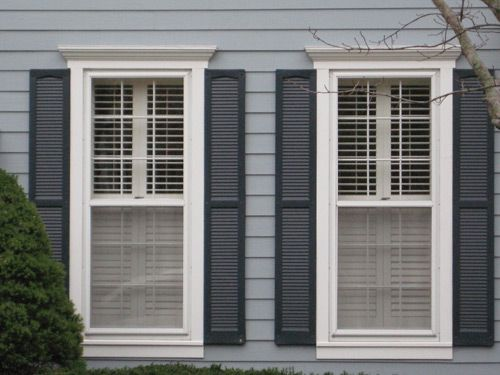 Exterior window trim windows shutters in 2019 window - Where to buy exterior window shutters ...