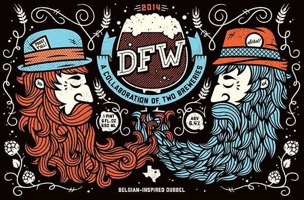 DFW: Collaboration Beer - by All The Pretty Colors (Nathan Walker) — Designspiration
