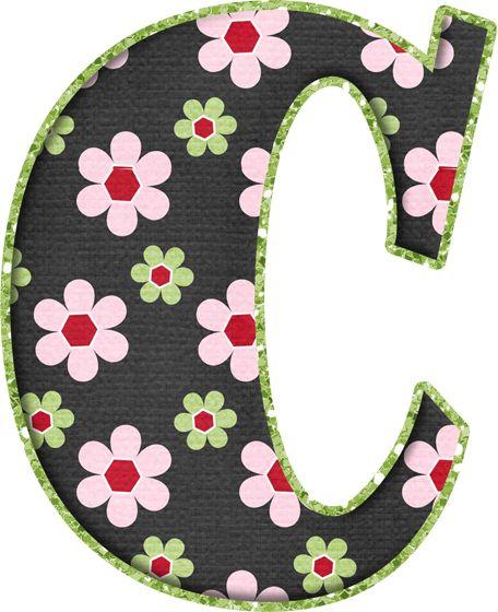 .Alfabeto de florecitas rosas ...De  Eduarda Cavalcanti ...C