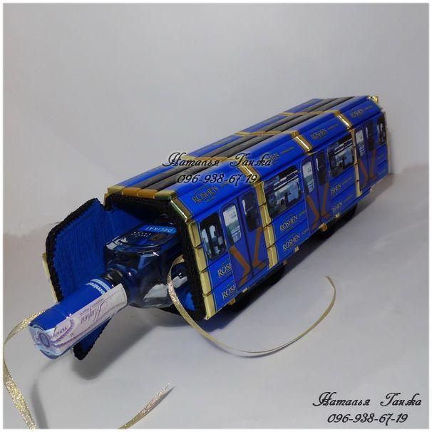 Букеты и композиции из конфет в Киеве » Blog Archive » Композиция из конфет «Вагон метро»