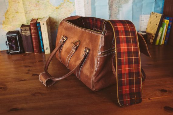 Leather Duffle Bag Men's Overnight Bag Leather by BennyBeeLeather