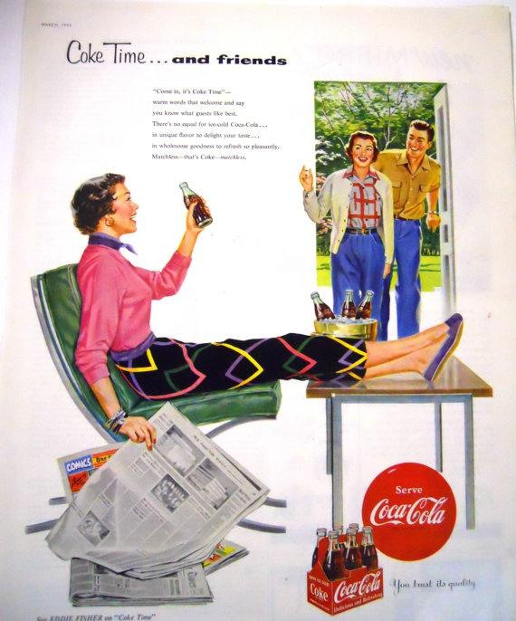 Retro Coca Cola  Magazine Advertisment 1954 by mamiezvintage, $8.95