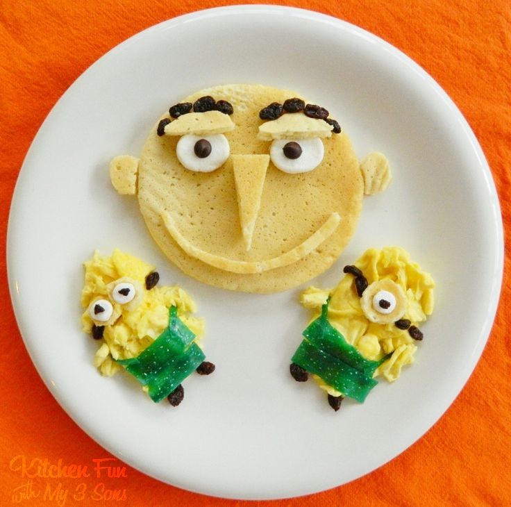 Kitchen Fun With My 3 Sons: A Despicable Breakfast! Gru Pancakes & Minion Eggs!:)