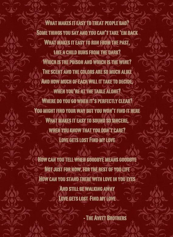 The Avett Brothers – The New Love Song Lyrics | Genius Lyrics