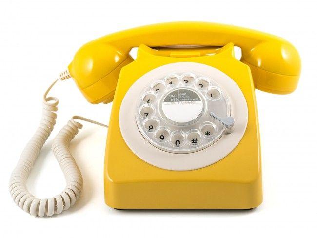 GPO 746 Draaischijf Mosterd Geel - Telefonie - 123platenspeler.nl