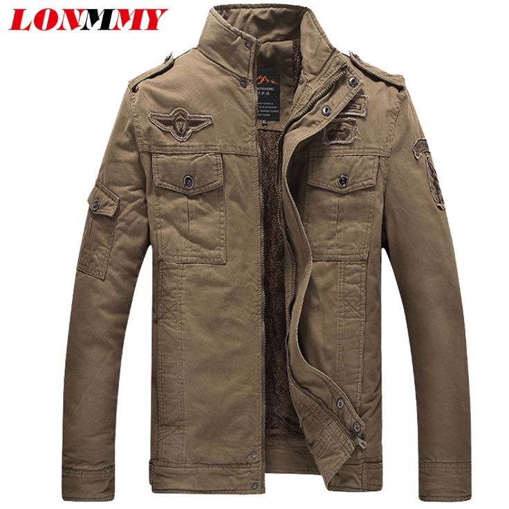 >> Click to Buy << LONMMY M-6XL Winter jacket men coat Cotton 2017 bomber jacket man coats Military jackets mens Army Air Force One Velvet Warm #Affiliate