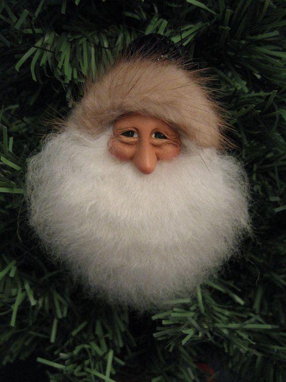 ooak+unique+Christmas+Santa+Ornament+70+original+by+KarinsWhimsy,+$10.00