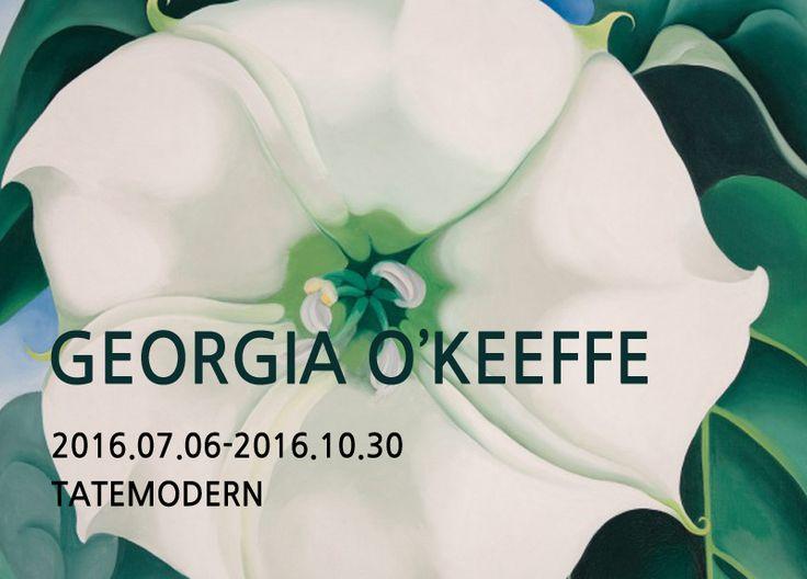 Georgia O'Keeffe Jimson Weed/White Flower No. 1 1932   GEORGIA O'KEEFFE  2016.07.06 -2016.10.30       Georgia O'Keeffe oriental Poppies 1927     Georgia O'Keeffe is