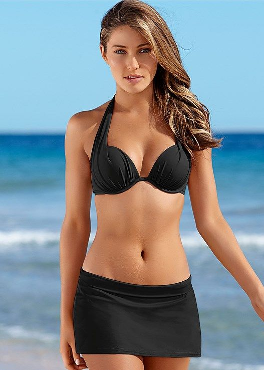 405f650fb86a Venus Women's Marilyn Push Up Bra Top Push-Up Bikini Tops - Black, Size D2