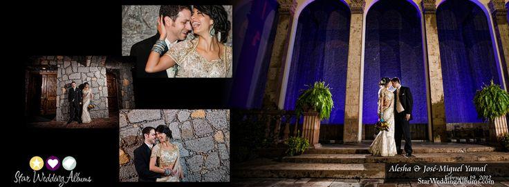 So Romantic! Flush Mount Professional Wedding Albums with panoramic spreads #weddingalbum