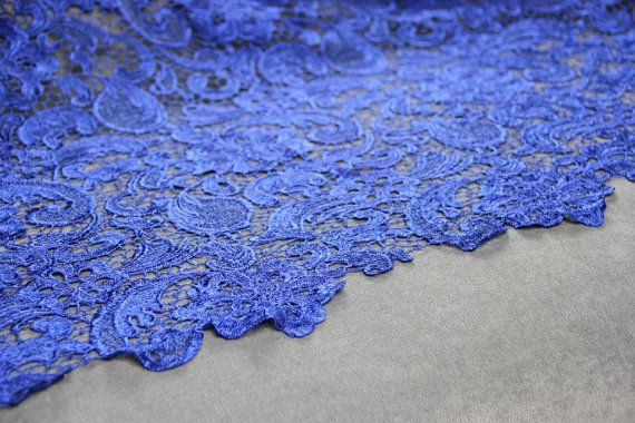 Beautiful Royal Blue Guipure Lace  bridal lace   Free Delivery within UK