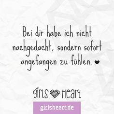 Liebe auf den ersten Blick! Mehr Sprüche auf: www.girlsheart.de #liebe…