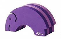 Mini Tumbling Purple Elephant - perfect first play toys for babies.