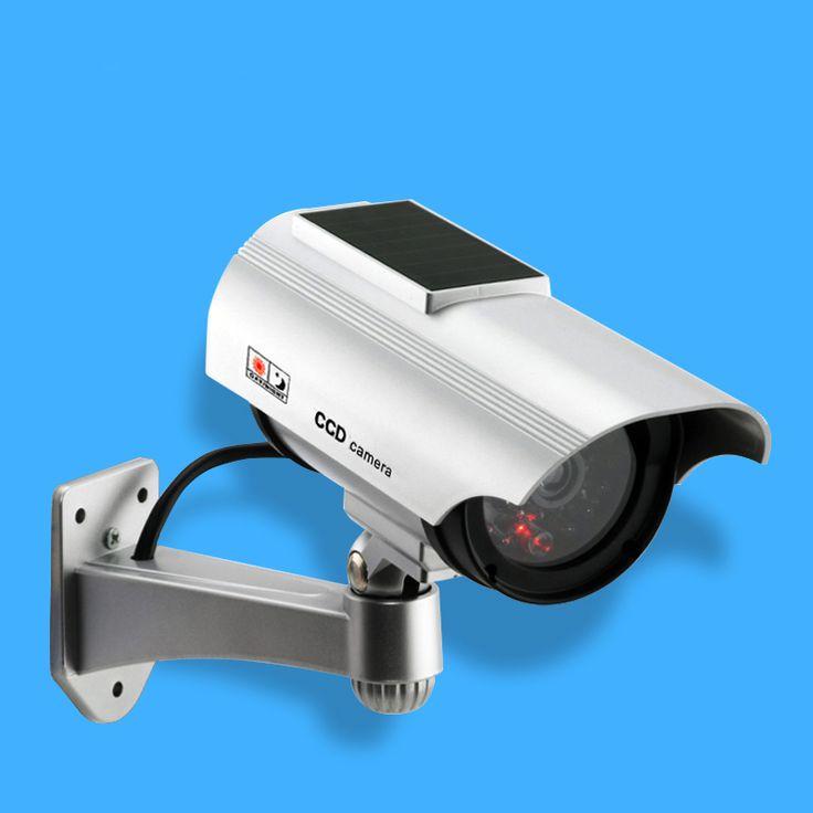 Fake Camera Solar Powered Dummy Security Camera Bullet CCTV Camera Surveillance Camaras de Seguridad with Flash LED Light