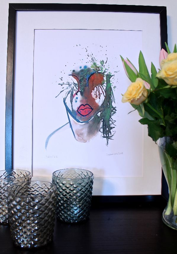 Aquarelle painting and fine art print from ateljececilia.tictail.com made by Cecilia Weinholt, swedish artist.