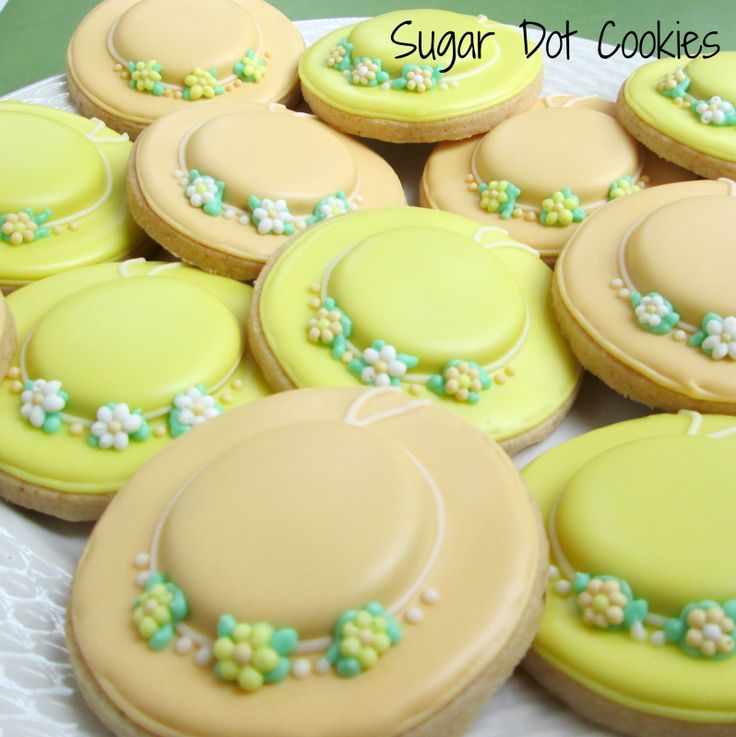 hat cookie decorating | And a few race horses. Bake at 350 inspired these, though I changed ...