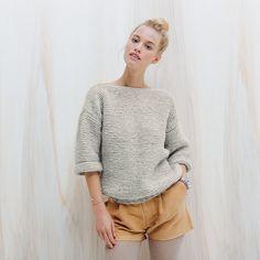 tricoter un pull au point mousse / patron gratuit pull / knitting pattern