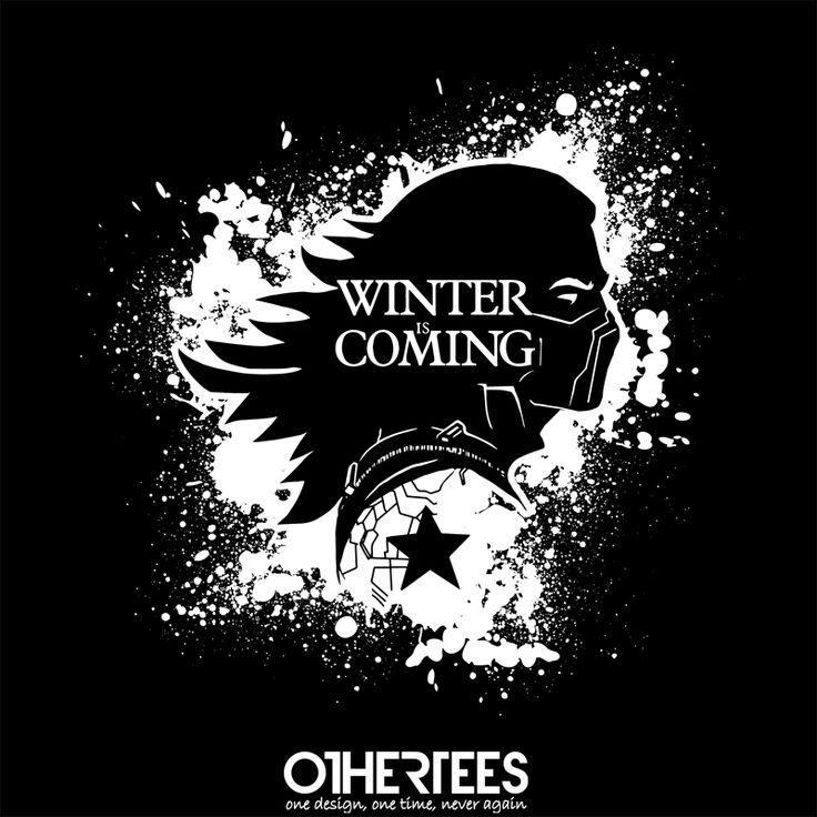 """""""Bucky is coming"""" by AndreusD Shirt on sale until 23 May on othertees.com #game of thrones #winter is coming #winter soldier #captain america Pin it for a chance at a FREE TEE!"""