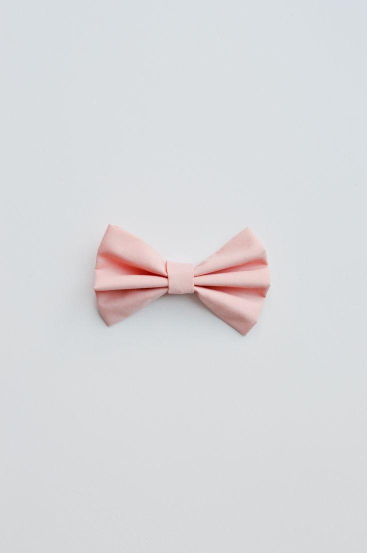 Handmade Peach Bow Tie For Your Fashion Forward Pets!