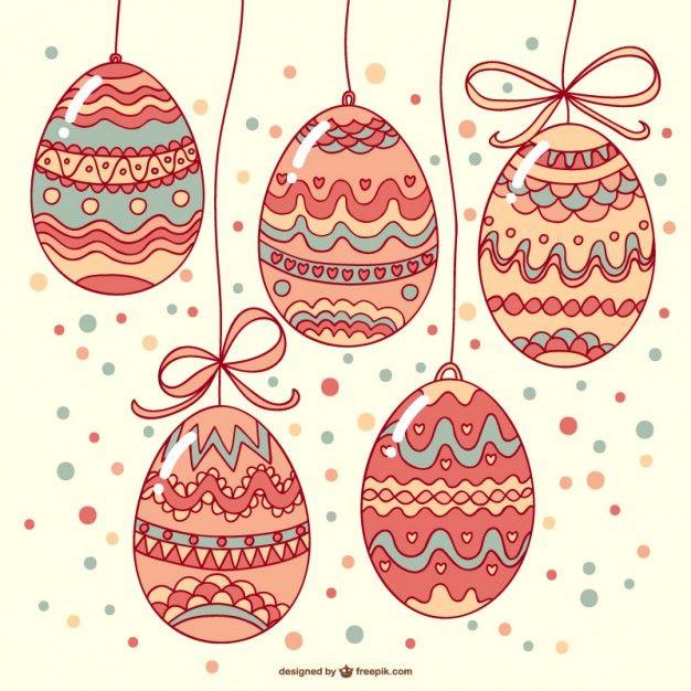 Easter eggs template