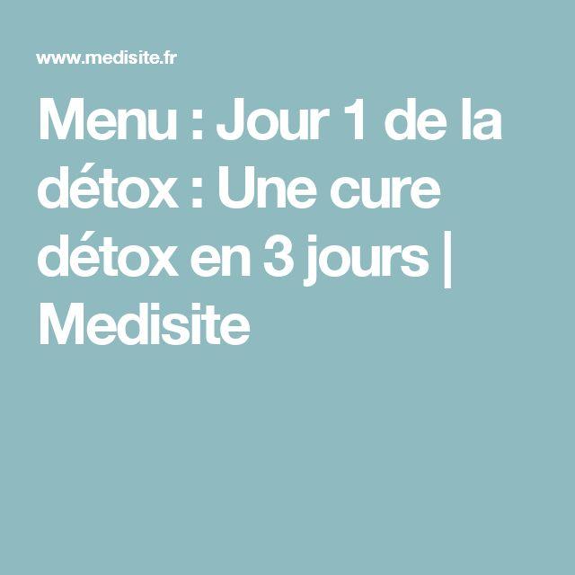 Menu : Jour 1 de la détox : Une cure détox en 3 jours | Medisite