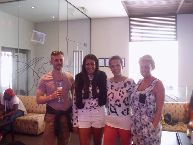 John with the girls from TOWIE