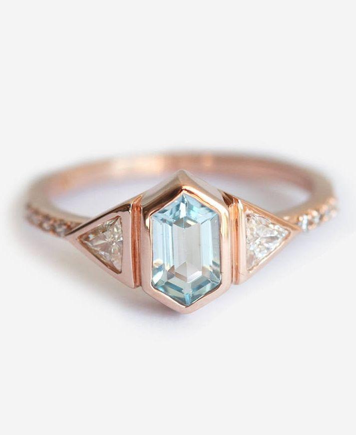 Aquamarine Engagement Ring || Colored Engagement Ring || Perfect Engagement Ring #Engaged #engagementring